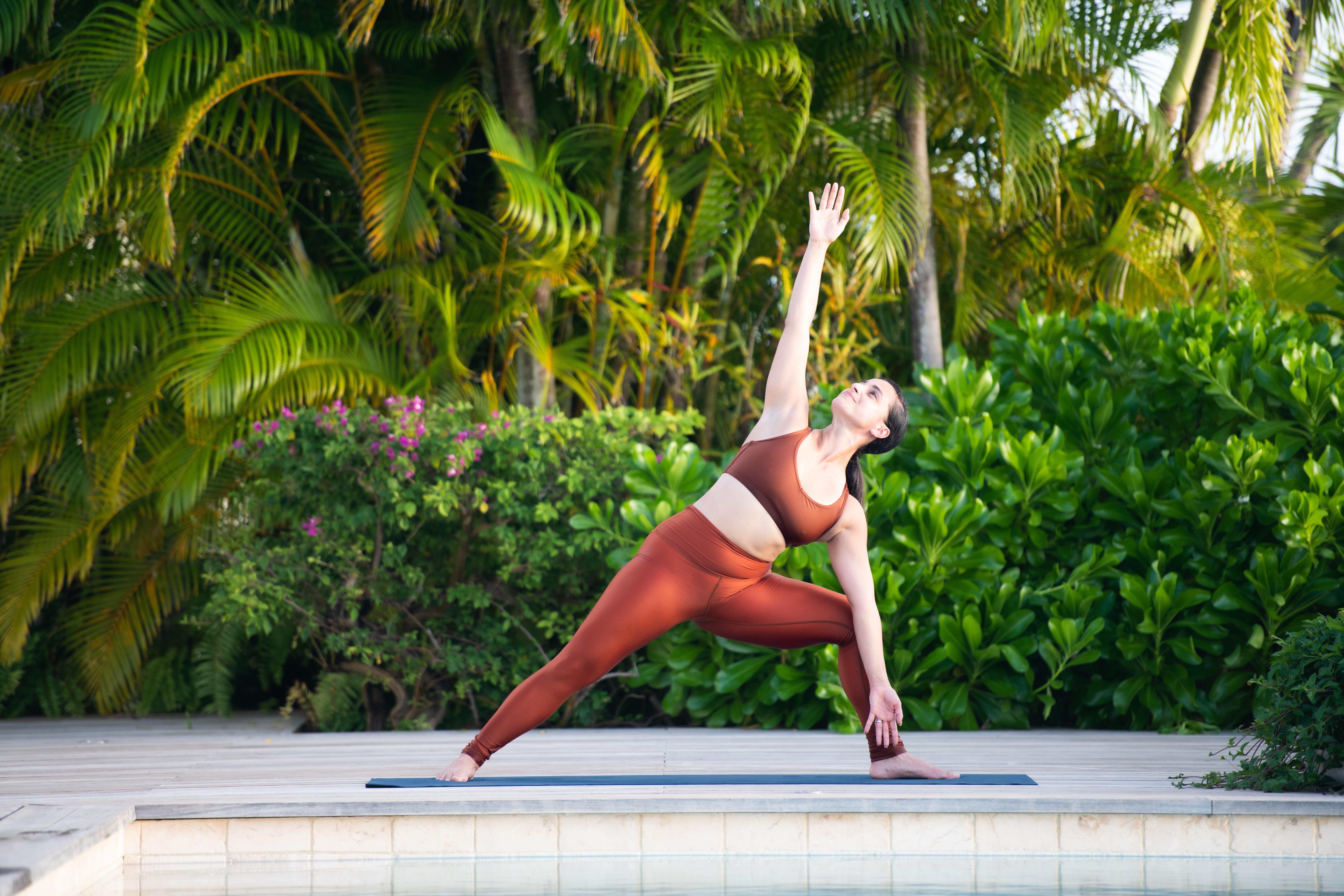 Instructor doing yoga pose